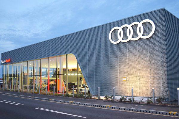 Poole Audi Floodlit