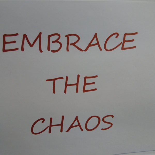 Inspirational Quote EMBRACE THE CHAOS from Composite Profiles Building Excellence Strategy Day