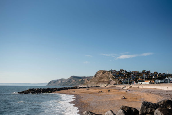 View of West Bay Beach, Dorset at Composite Profiles Building Excellence Strategy Day