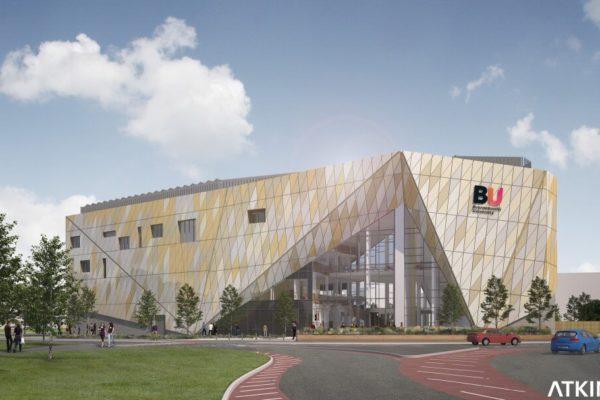 Atkins artists impression of Bournemouth University's Poole Gateway Fusion Building