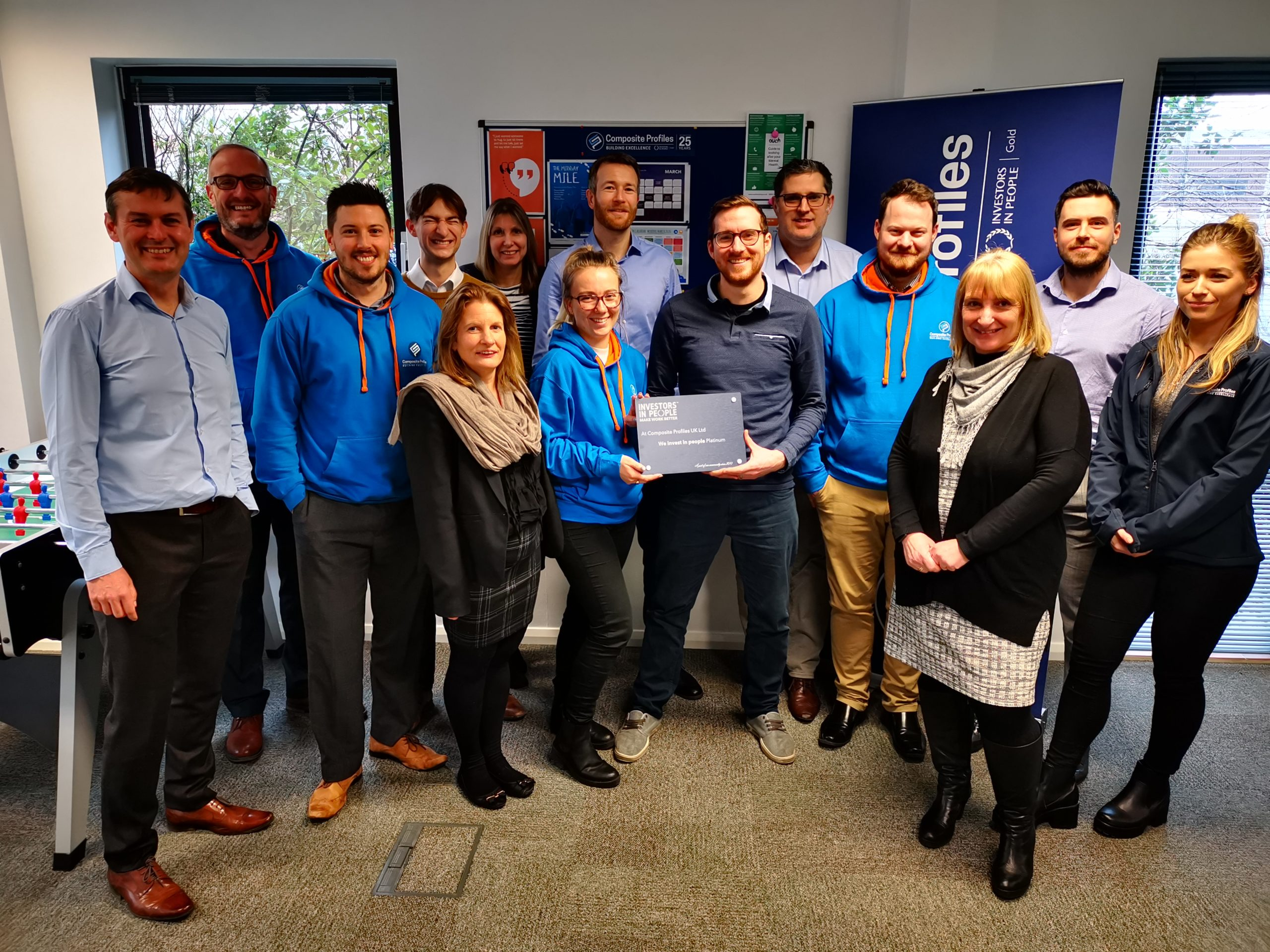Invest in People Platinum Award presented to Composite Profiles team